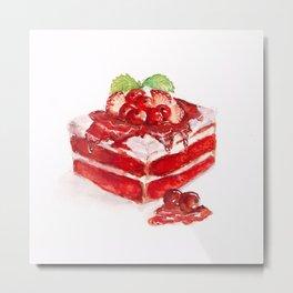 Red velvet cake Metal Print