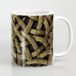 Ancient Style Arabesque Stone Ornament in Gold Tones Coffee Mug