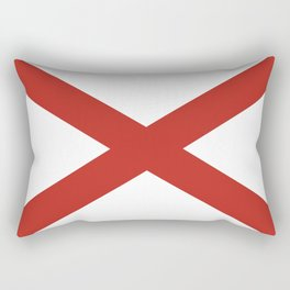 alabama state flag united states of america country Rectangular Pillow