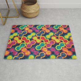 Colorful Geometric Pattern #05 Rug