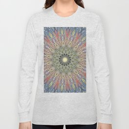 red and black Center Swirl Long Sleeve T-shirt