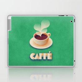 Art Deco Vintage Retro Coffee - Green Laptop & iPad Skin