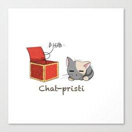 Chat-pristi Canvas Print