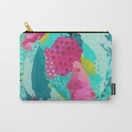 Tidal Pool Mixed Media Collage Carry-All Pouch