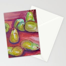 Watercolor Pears Stationery Cards