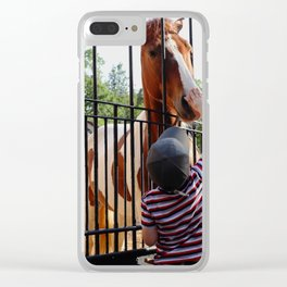 City Zoo Baby Horse Love Summer day Clear iPhone Case