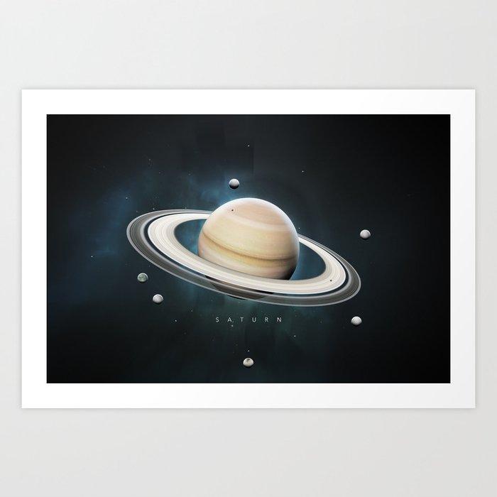 A Portrait of the Solar System: Saturn Art Print
