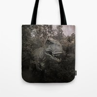 dinosaurs Tote Bags featuring Dinosaurs by TaLins