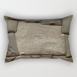 Twelve Sided Inca Stone Rectangular Pillow