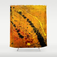 pocket fuel Shower Curtains featuring Loss Of Fuel by Spaz