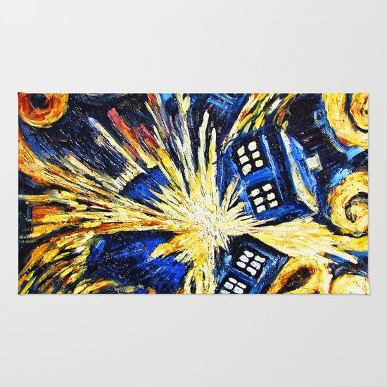 Tardis By Van Gogh Doctor Who Rug By Marcomellark Society6