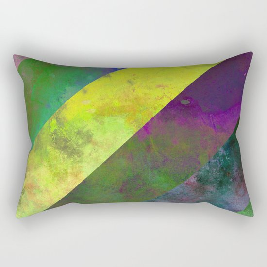 45 Degrees - Abstract, textured, diagonal stripes Rectangular Pillow