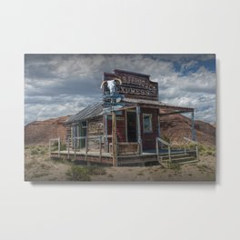 Wells Fargo Express Office Station on the Western Frontier Metal Print