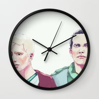 in the flesh Wall Clocks featuring Flesh by Crisis