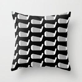 Golf Club Head Vintage Pattern (Black/White) Throw Pillow