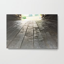 Wooden Road Metal Print