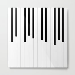 Piano keys, music background #society6 #decor #buyart #artprint Metal Print