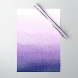 Purple Watercolor Design Wrapping Paper