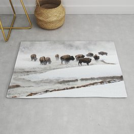 Yellowstone National Park - Bison Herd Rug