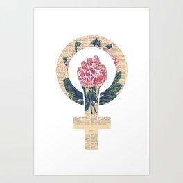 Respect, equality, women's liberation. Feminism Power Fist / Raised Fist Kunstdrucke