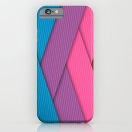 Colorful Diagonal Stripes iPhone Case