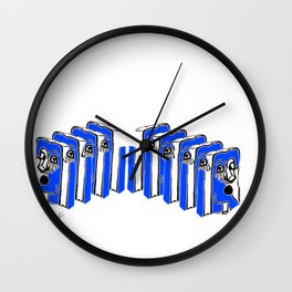 'Reunion' Wall Clock