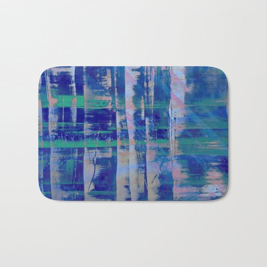 Broken Blue Bath Mat