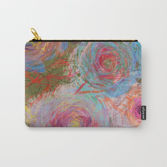 Floral abstract(38) Carry-All Pouch