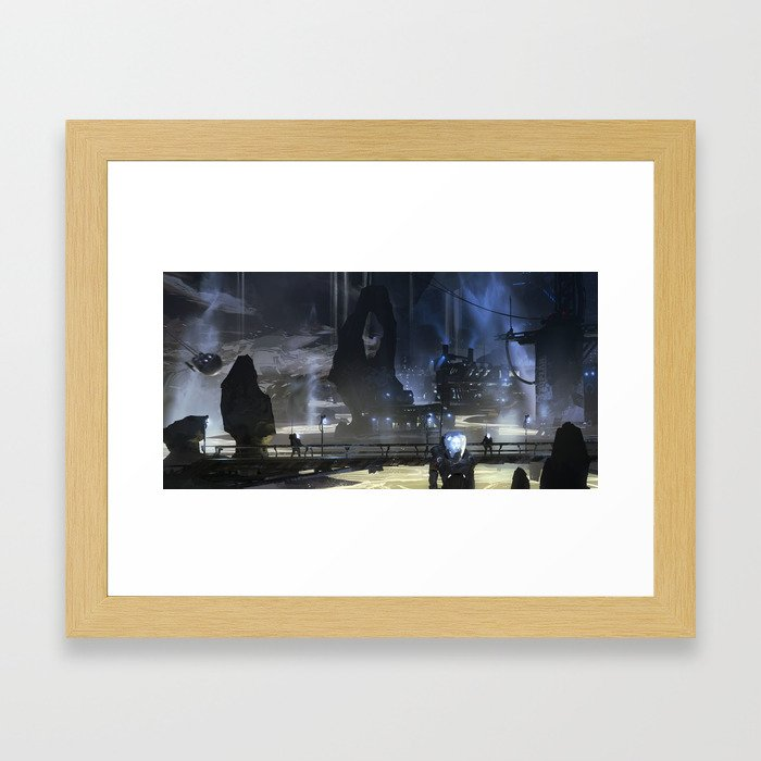 Helium Refinery Framed Art Print