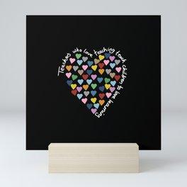 Hearts Heart Teacher Black Mini Art Print