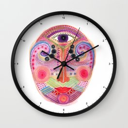 the all seing tranquility mask Wall Clock