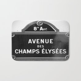 Avenue des Champs Elysees in Paris Bath Mat