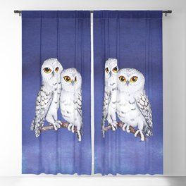 Two lovely snowy owls Blackout Curtain