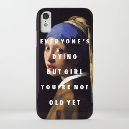Step with a Pearl Earring iPhone Case