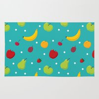 fruits Area & Throw Rugs featuring fruits by Irina Novikova