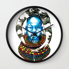 Maasai Tribal Warrior - Little Ghetto Boys Wall Clock