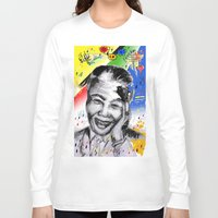mandela Long Sleeve T-shirts featuring Mandela forever by sladja