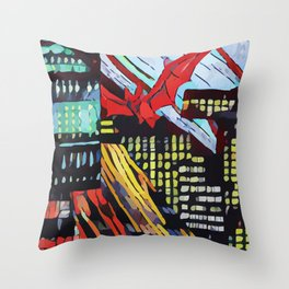 Abstract 50 #6 Throw Pillow