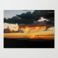 Black Canyon Sunset Canvas Print