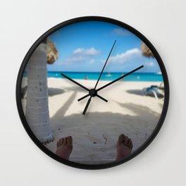I dream of Palm Beach Aruba Wall Clock