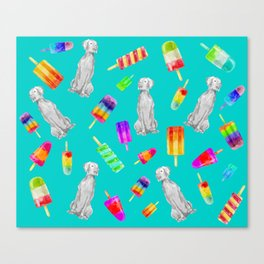 WEIMS AND POPSICLES Canvas Print