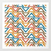ColorFull Triangle Seamless Pattern Art Print