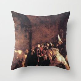 Burial of St. Lucy - Caravaggio Throw Pillow