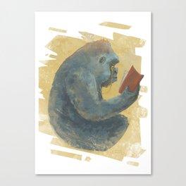 The Scholarly Ape Canvas Print