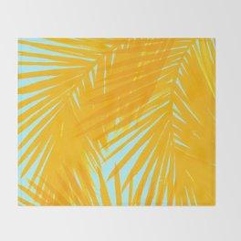 Palms Tangerine & Blue Throw Blanket