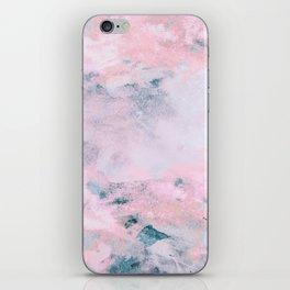 Navy Pink Watercolor iPhone Skin