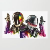 daft punk Area & Throw Rugs featuring Daft punk  by beart24