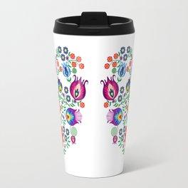 Folk Pattern - Flower Travel Mug