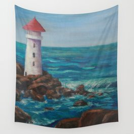 The Lighthouse Rocks AC151208c-12 Wall Tapestry