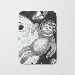 Sloth in Space Bath Mat